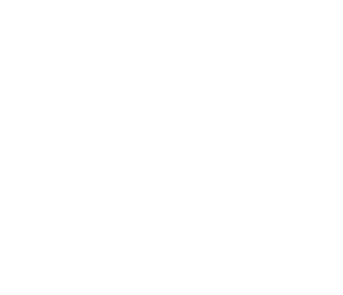Unlimited free pizza 5pm - 9pm